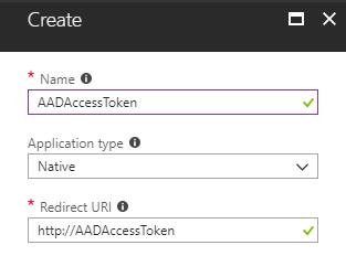 Create Azure Active Directory App
