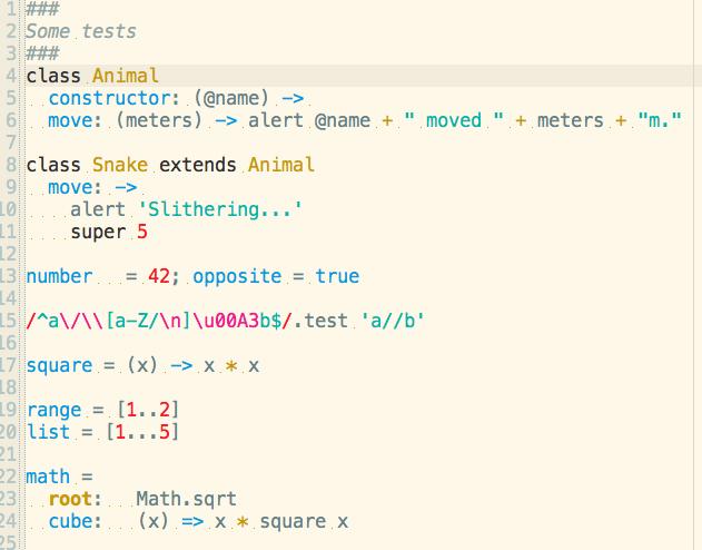CoffeeScript Sampe