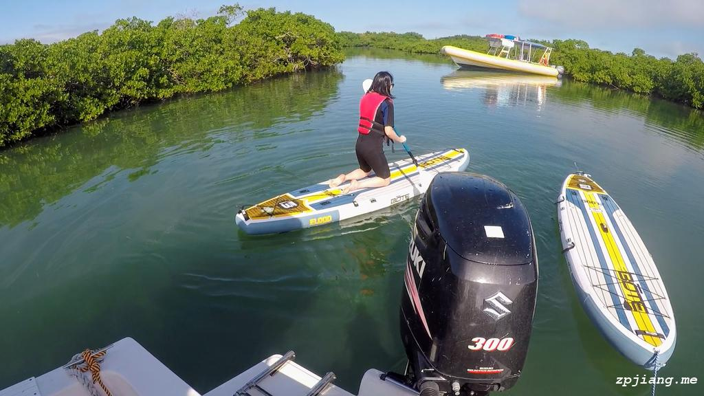 Jump on the paddle board