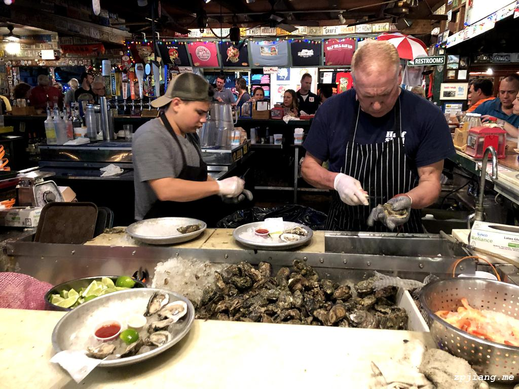 Inside the Half Shell Raw Bar.
