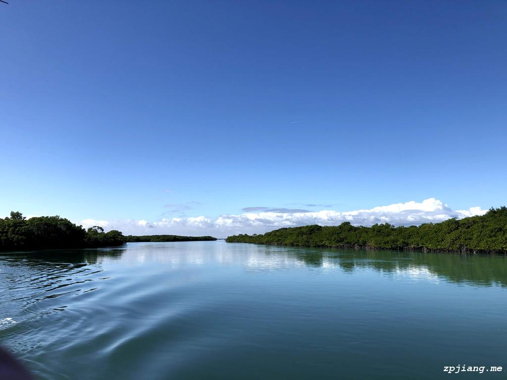 Peace water in Biscayne National Park.