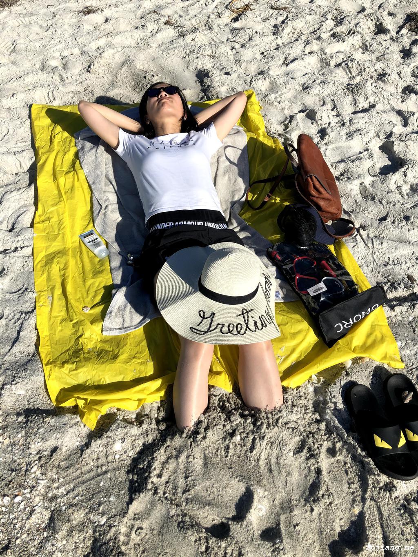 Jenny on the beach.