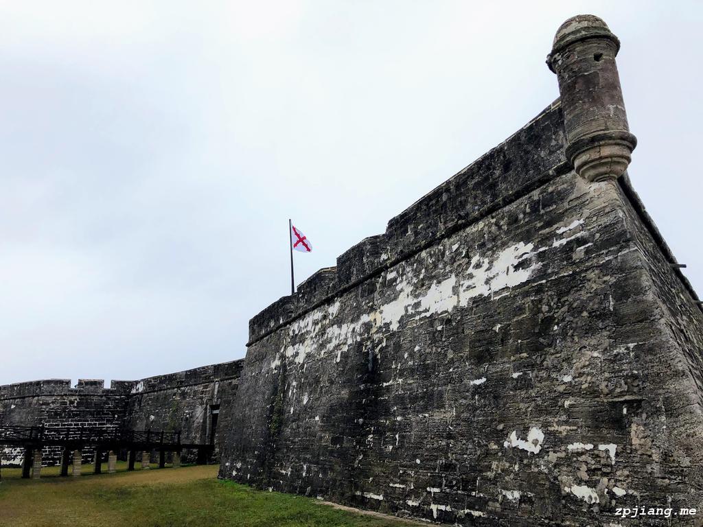A corner of Castillo de San Marcos