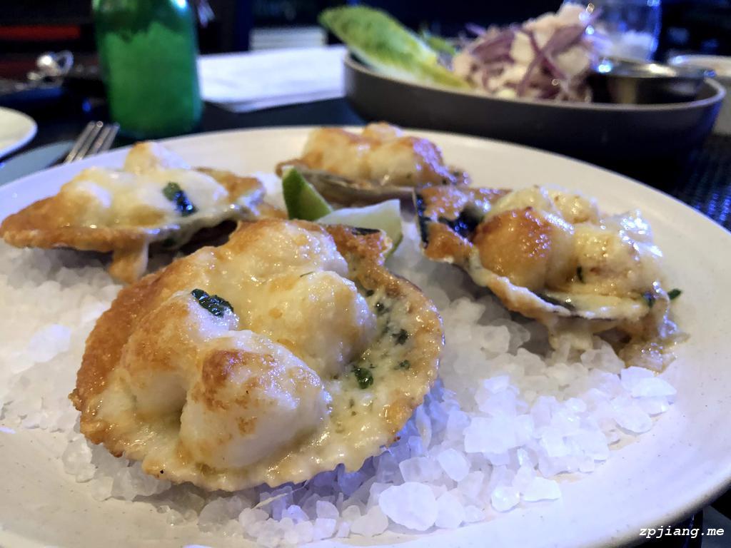 Conchas a la Parmesana (Scallop) in La Cuisine Peruvian Restaurant