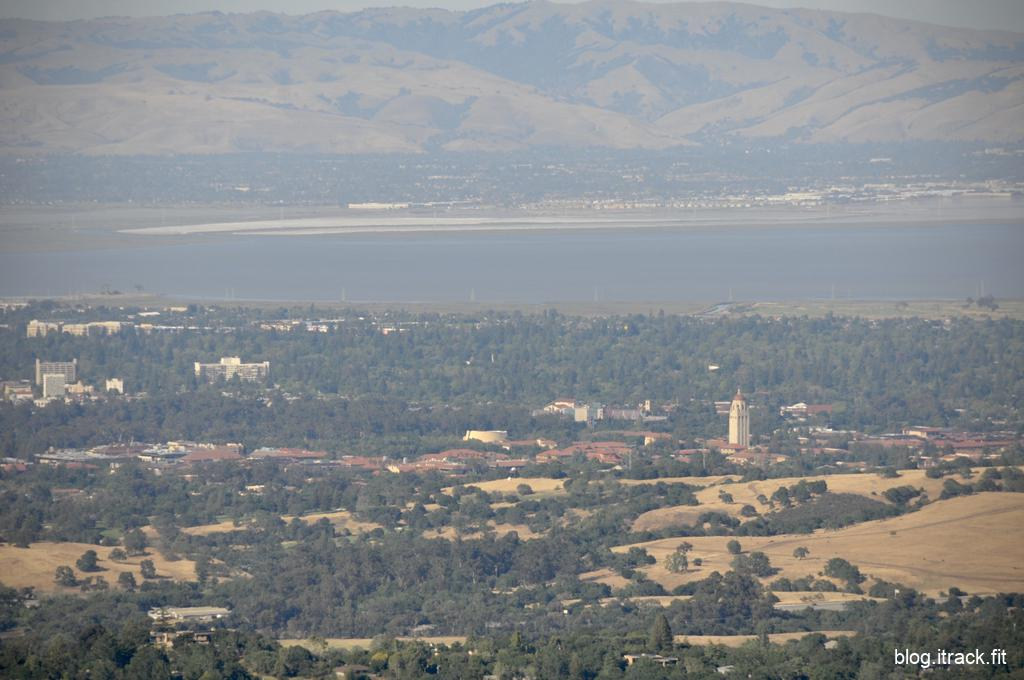 Stanford from the top of Windy Hill