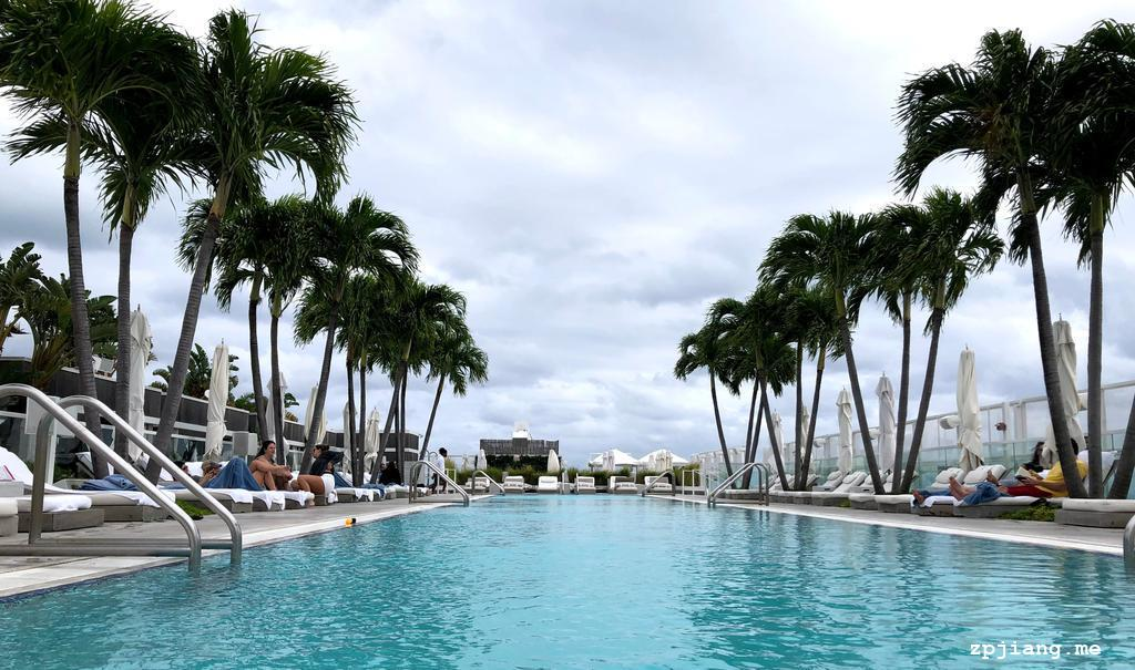 Rooftop Bar & Pool in 1 Hotels South Beach.