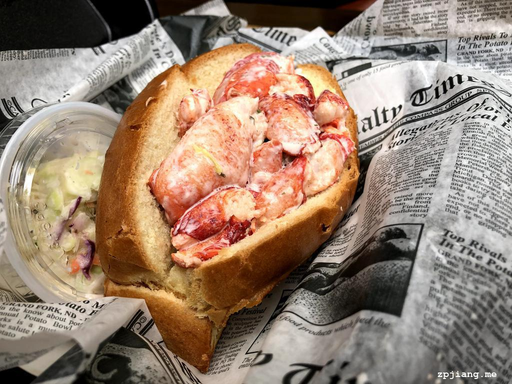 Lobster roll from DJ's Clam Shack.