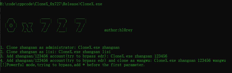 CloneX_0x727 进行克隆用户、添加用户等账户防护安全检测的轻巧工具