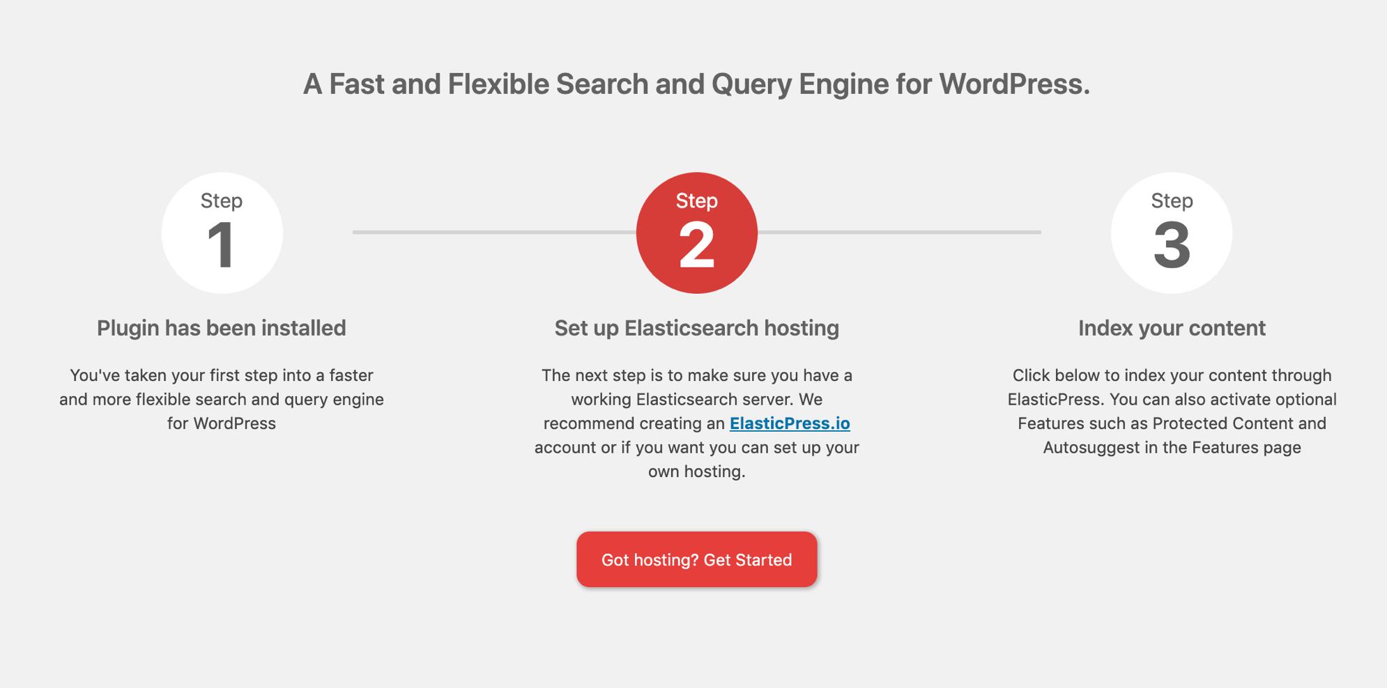 3 step ElasticPress setup