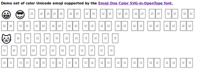 Before Emoji One Color in Firefox Linux