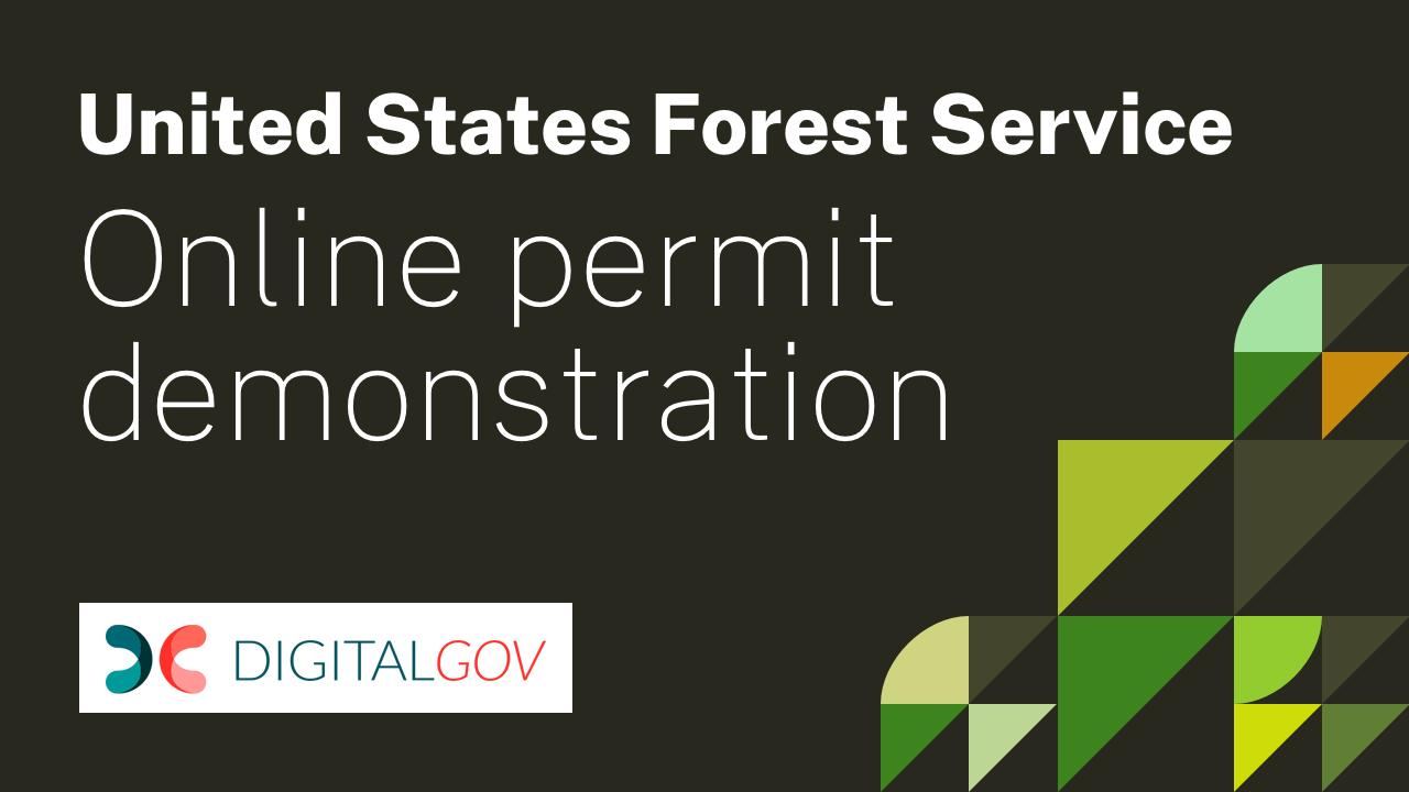 United States Forest Service Online Demonstration Youtube Link