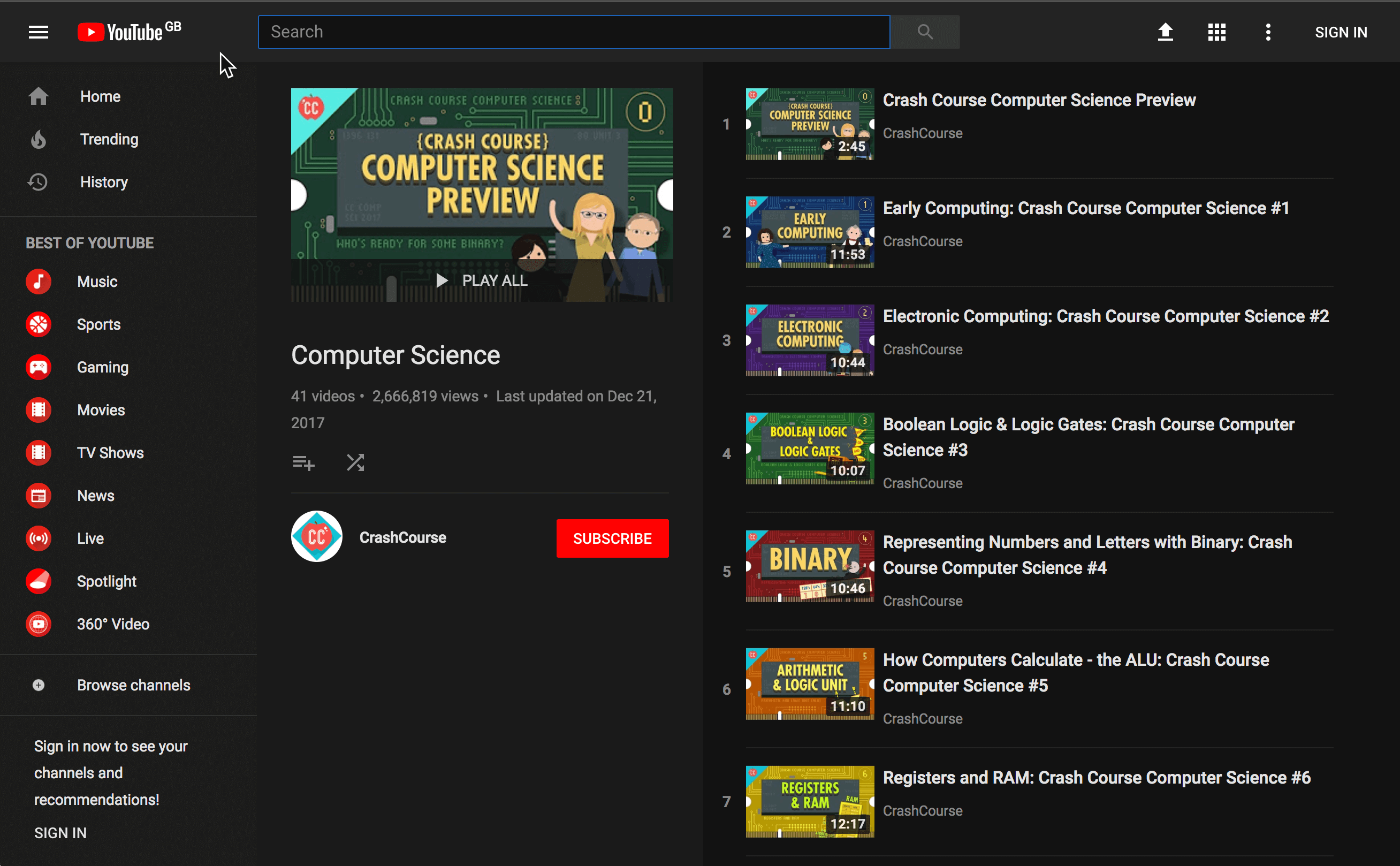 Crash Course CS screenshoht