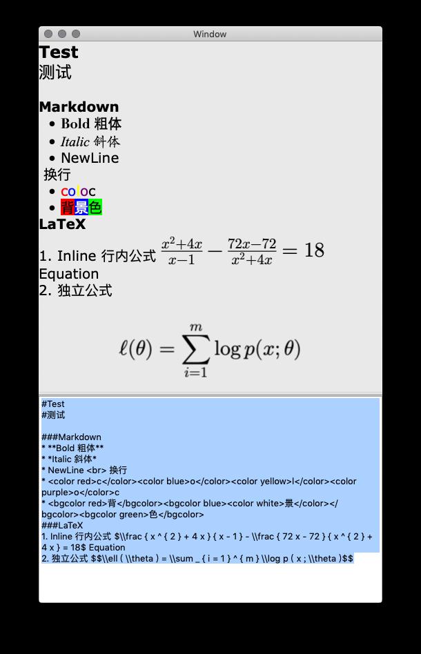 Example OSX app