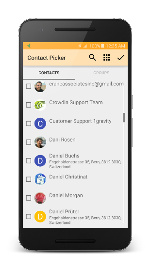 Contact picker light theme