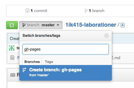Lägg till branch, GitHub