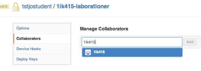 Lägg till medarbetare, GitHub