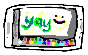 JS Paint drawing of JS Paint on a phone