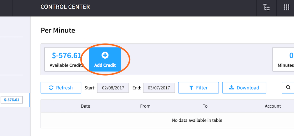 Add Credit