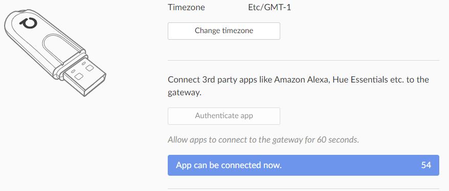 Activation authentification deCONZ
