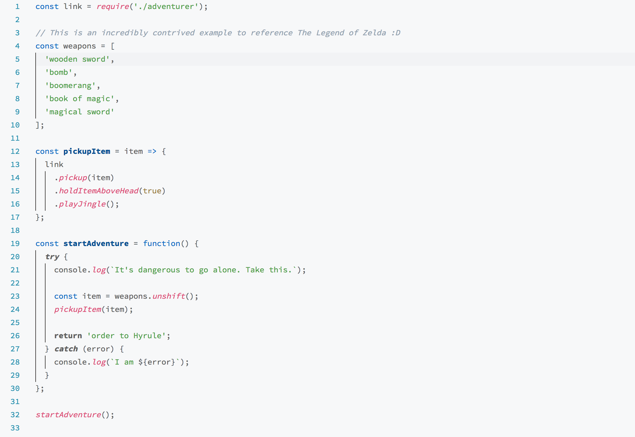 JavaScript Theme Screenshot