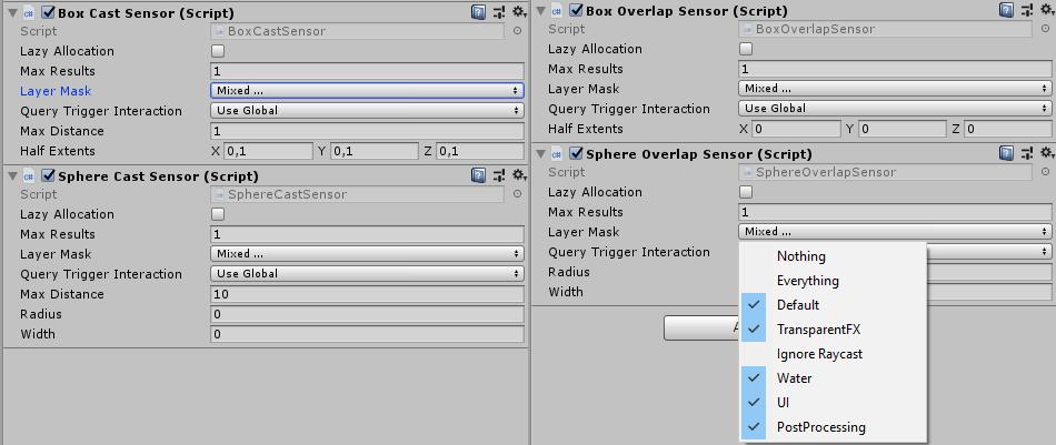 Sensor parameters