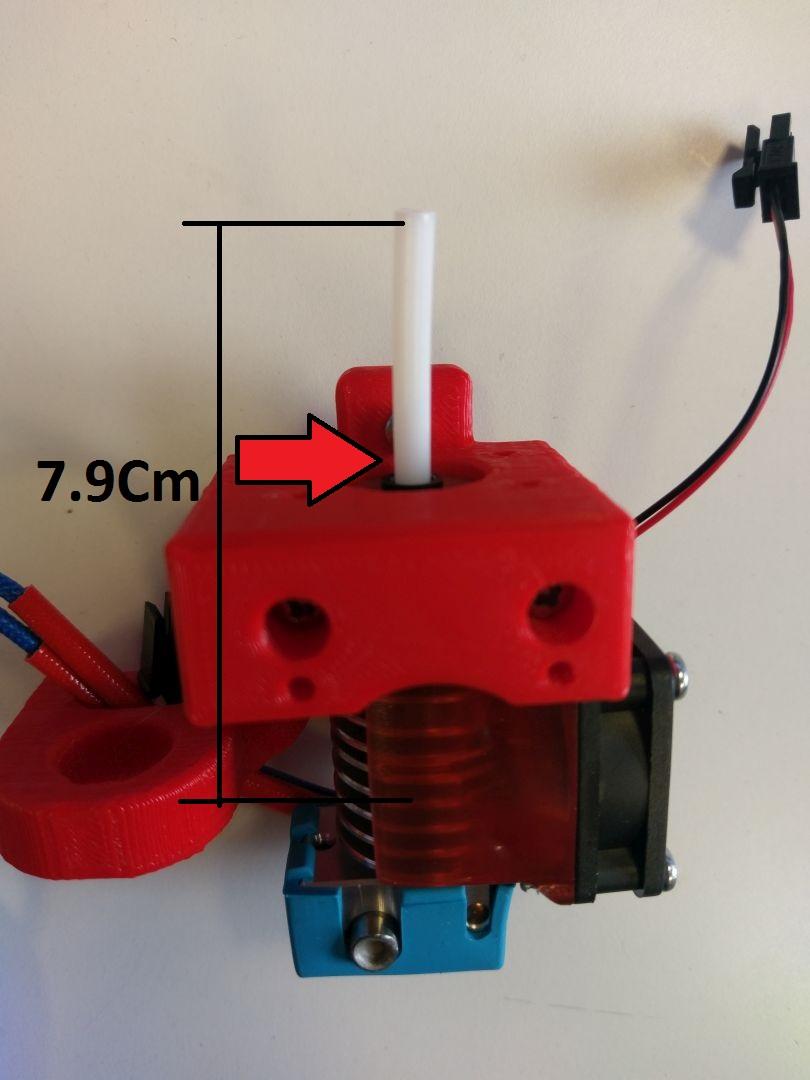 E3D Lite installation du tube ptfe