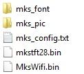 Structure de fichier pour la mise à jours de l'écran MKS TFT 2.8