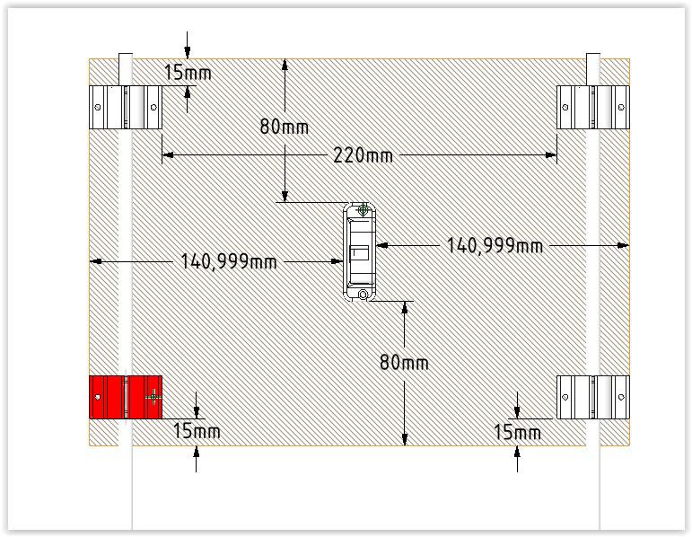Dimensions du plateau de scalar M
