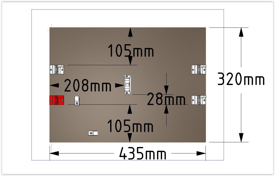 Dimensions du plateau de scalar XL