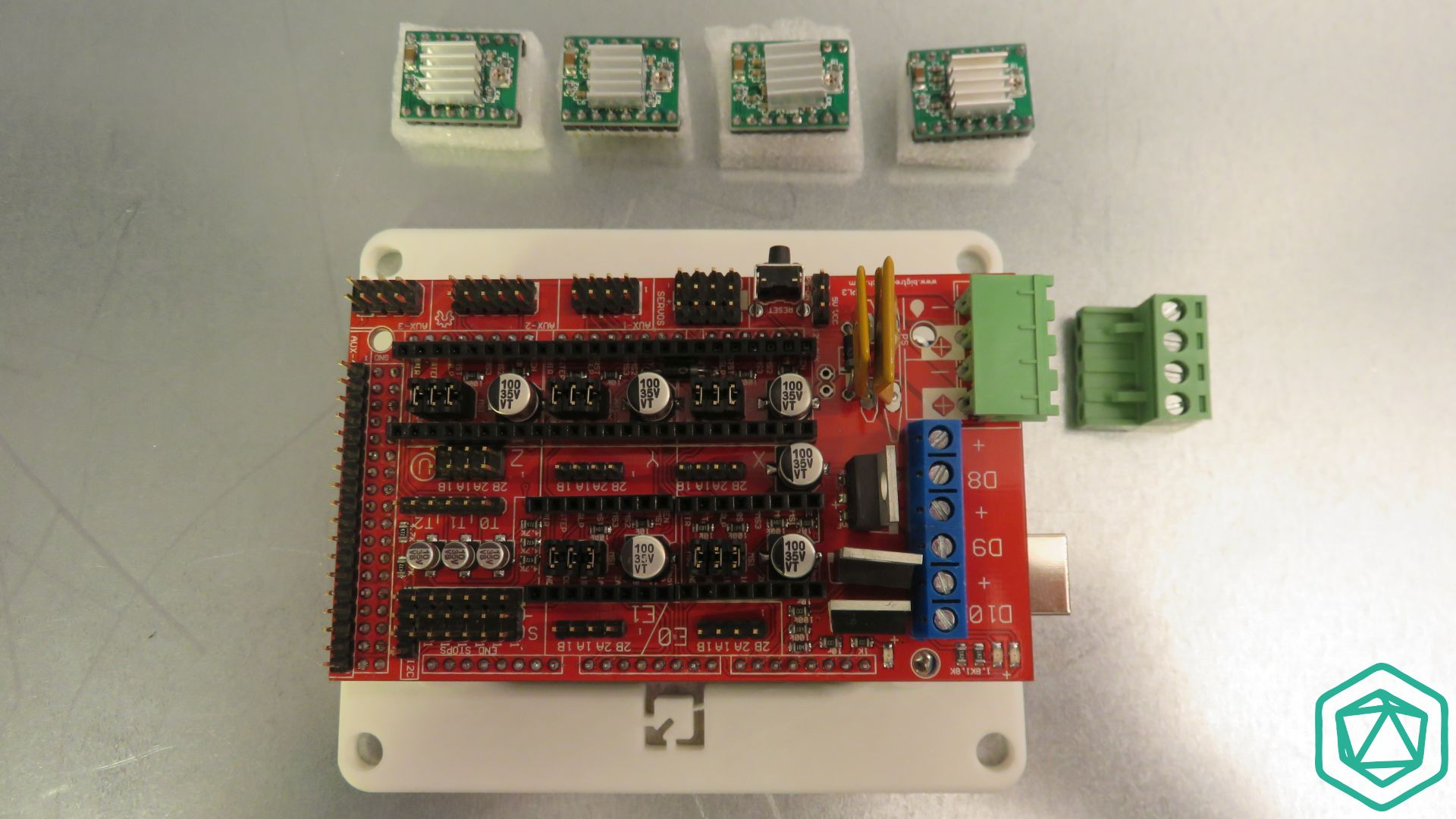 Wiring Archives 3d Modular Systems Ramps 14 Board Placement Of Stepper Motor Drivers On The