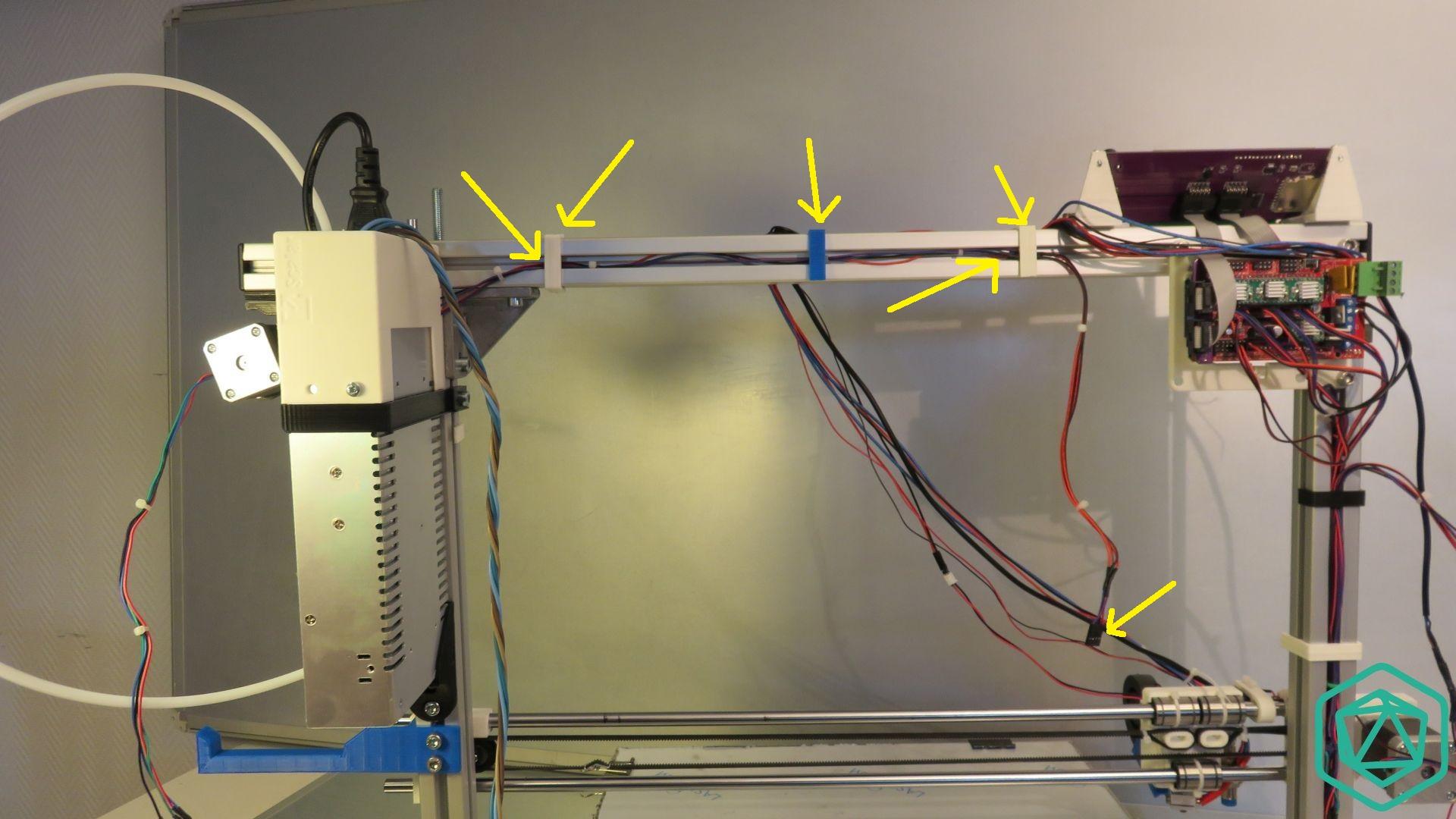 Passage du câble du moteur gauche sur Scalar XL