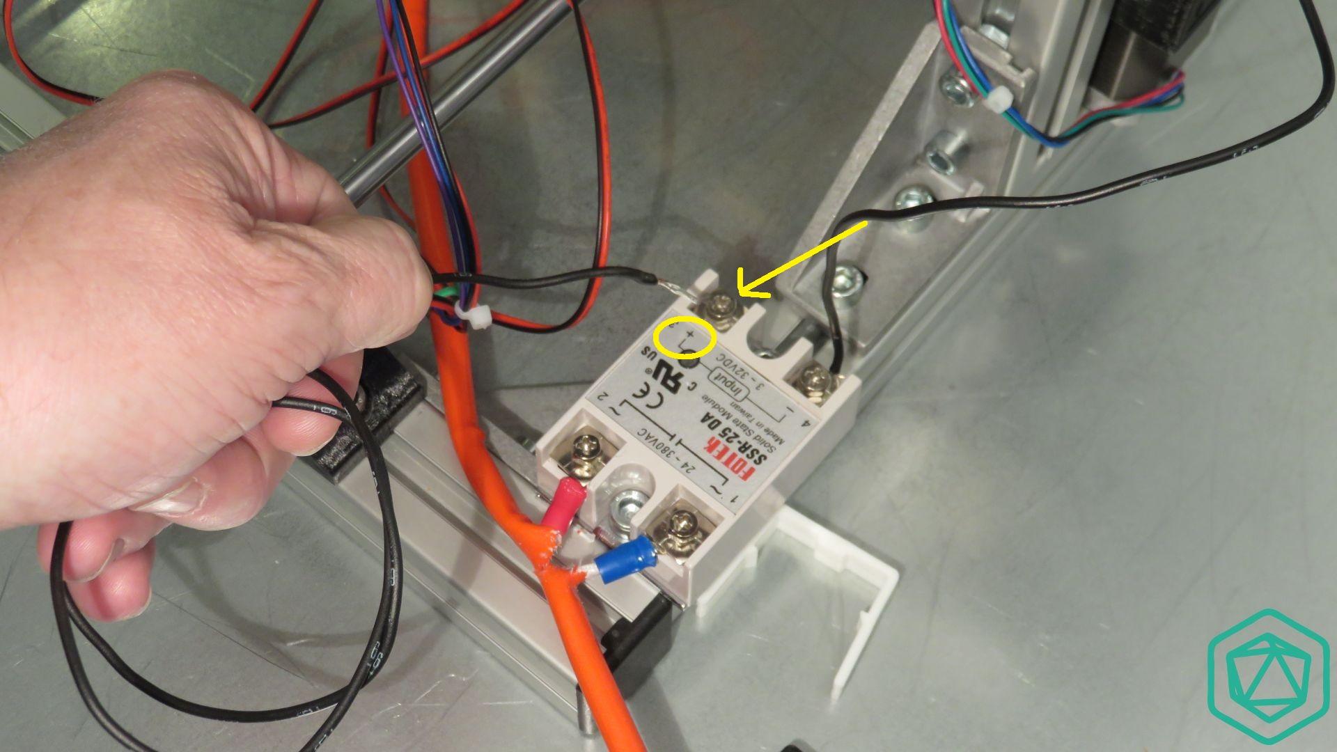 Raccordement du relais statique
