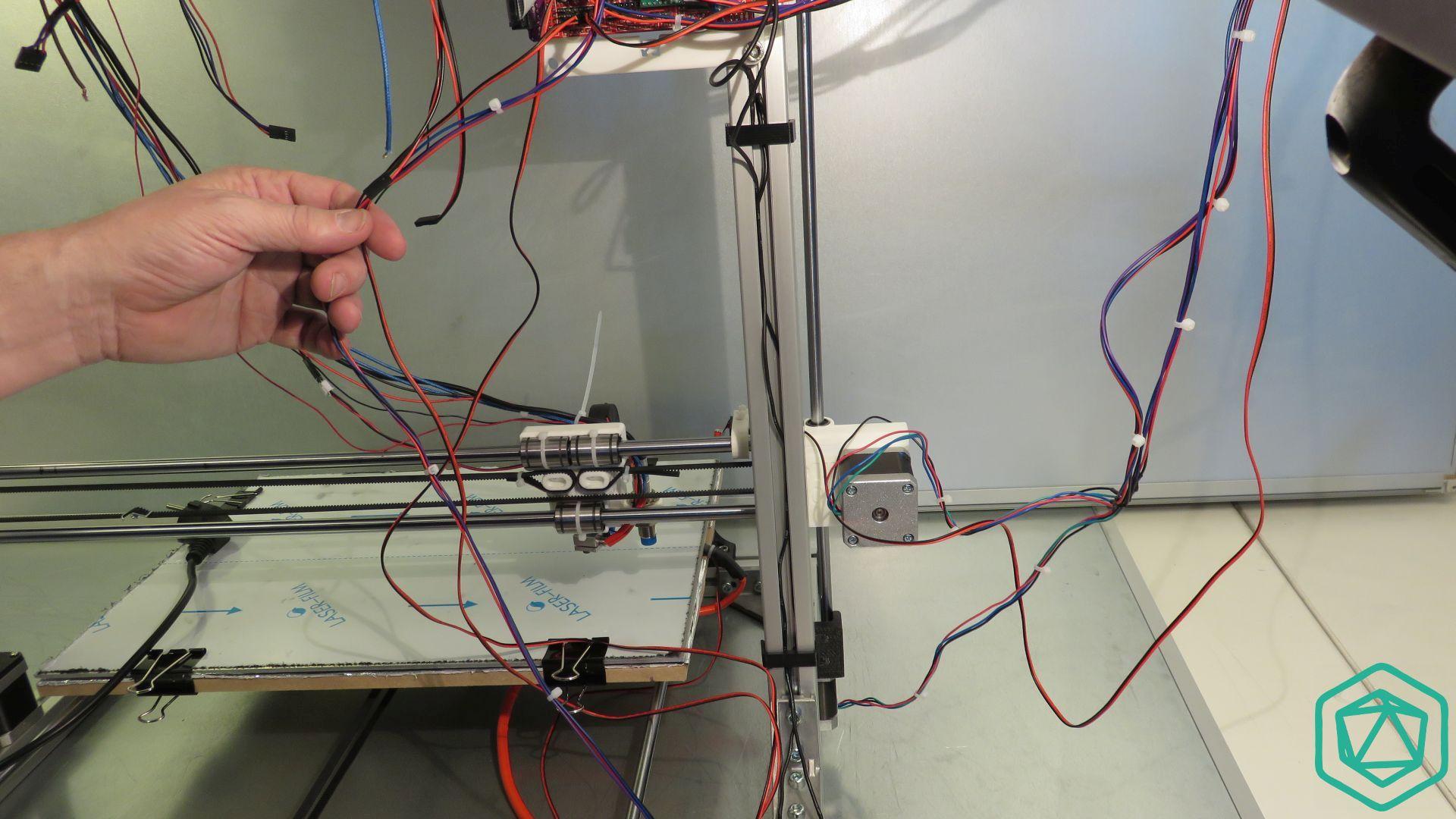 Positionnement des câbles de la Scalar