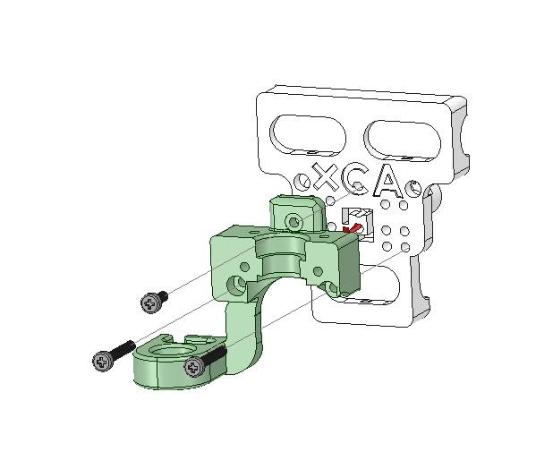 Fixation du bloque de base du support de tête chauffante