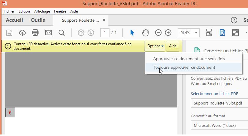 Comment lire un PDF 3D