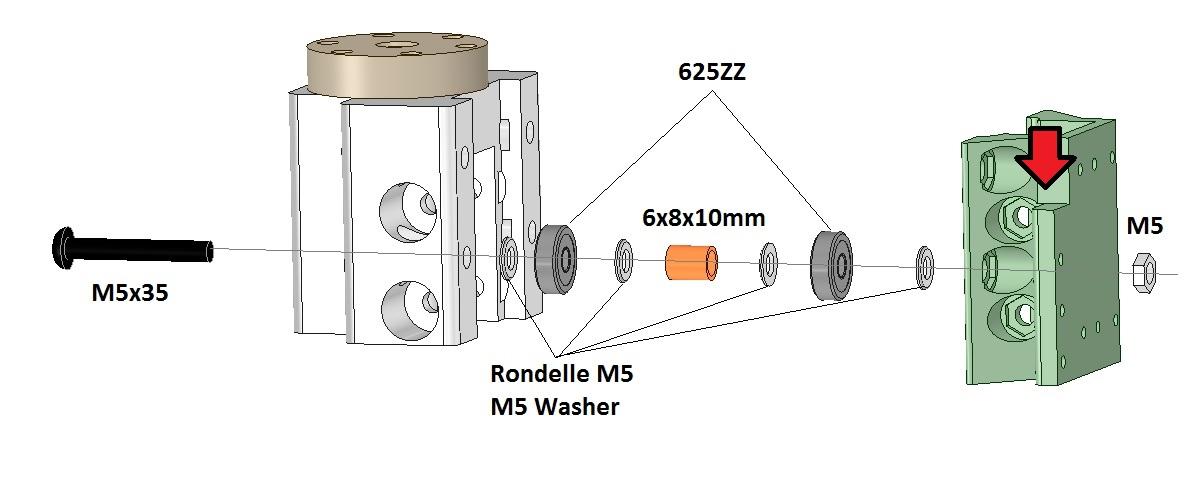 machoire aluminium pour imprimante 3D Scalar