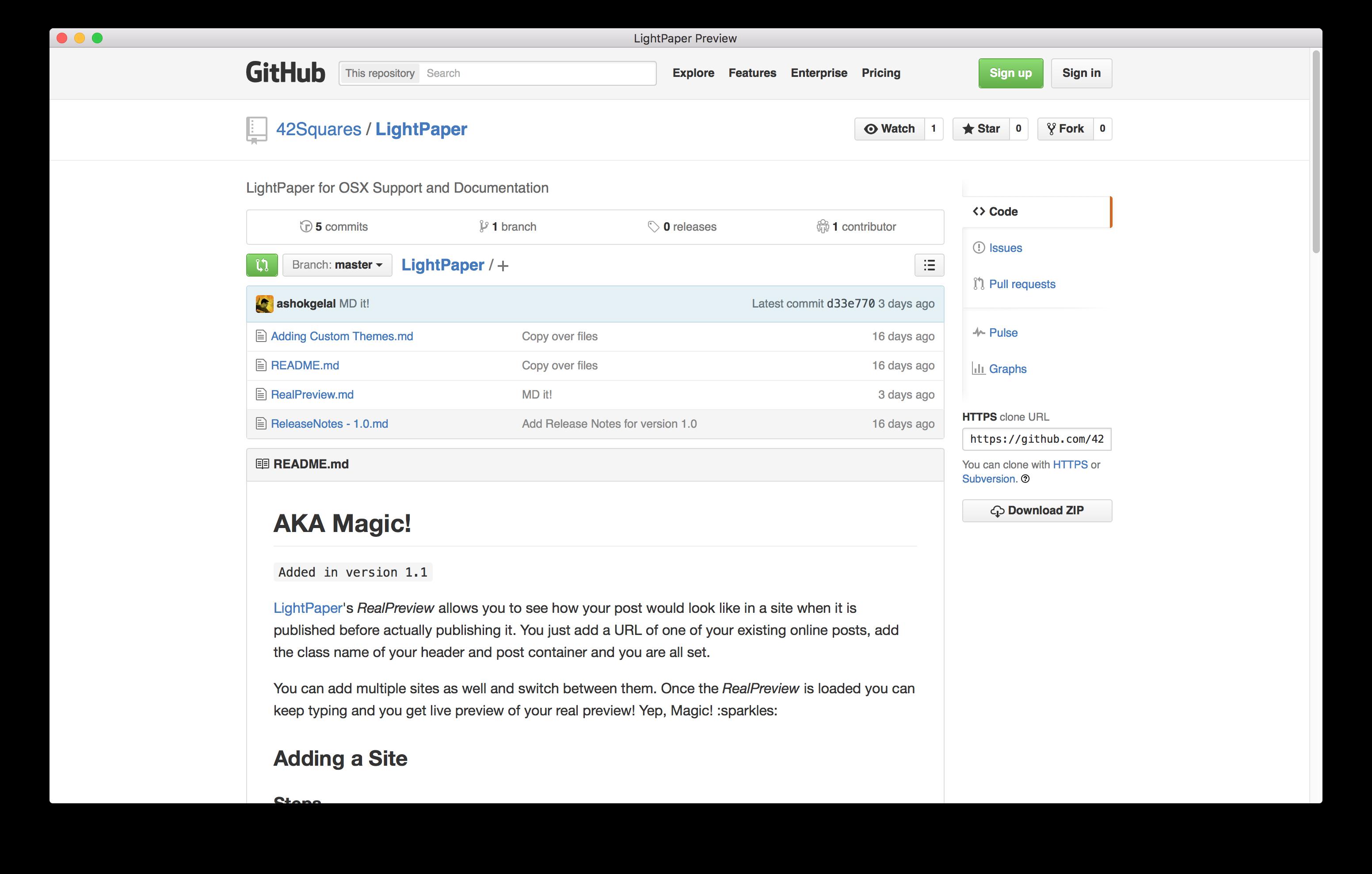 42Squares GitHub Sample