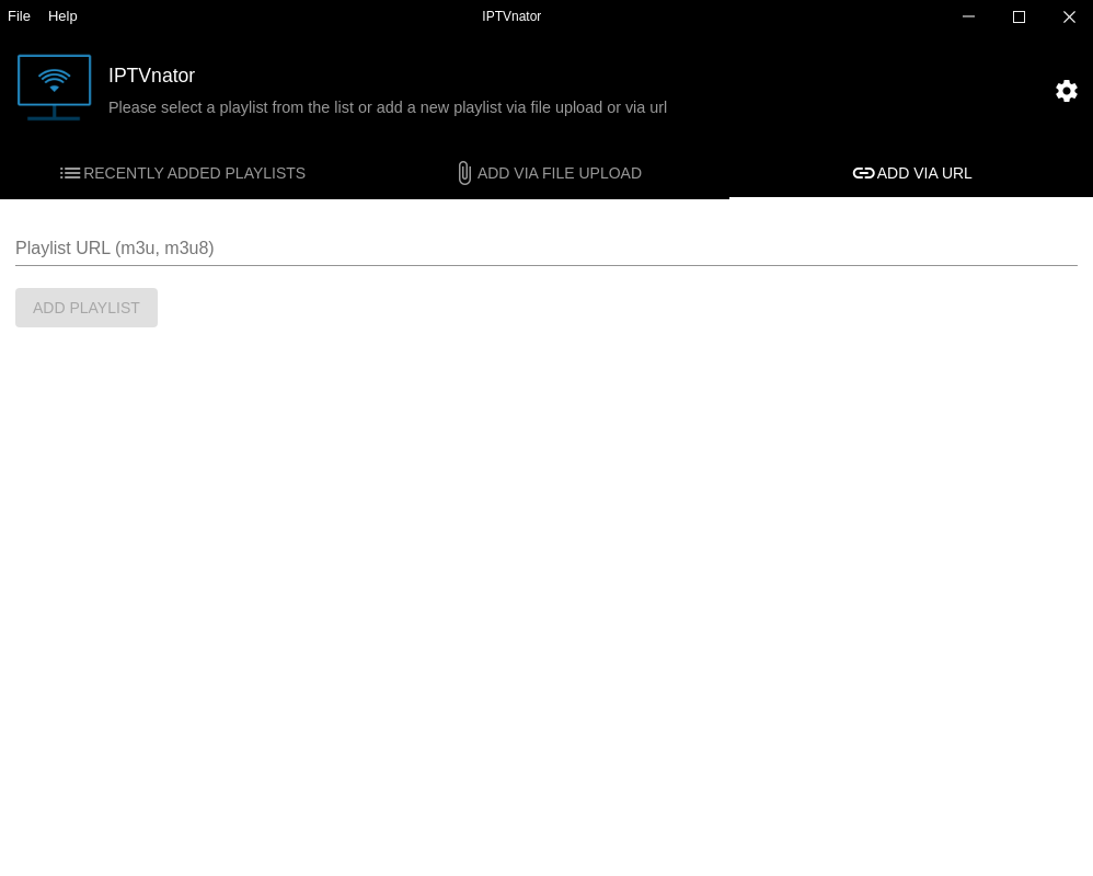 Upload playlist via URL