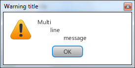 Warning dialog