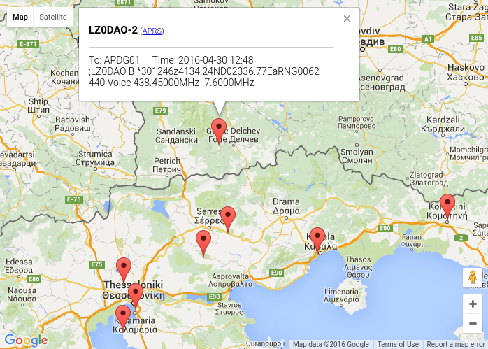 Github 4x1mdyaesuaprsmaps yaesu vx 8drde received aprs aprs beacon from bulgaria gumiabroncs