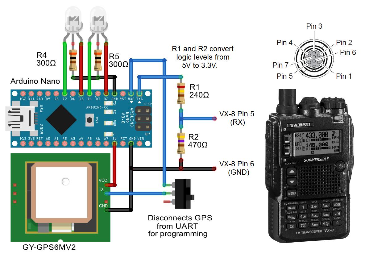 Github 4x1md Vx8 Gps Diy Module For Yaesu Vx 8dr 8de Circuit Schematic