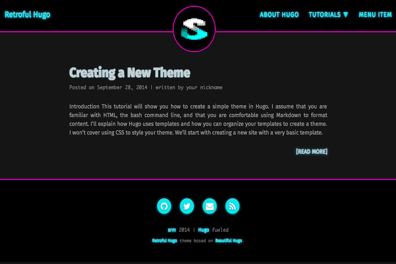 Retroful Hugo Theme Screenshot