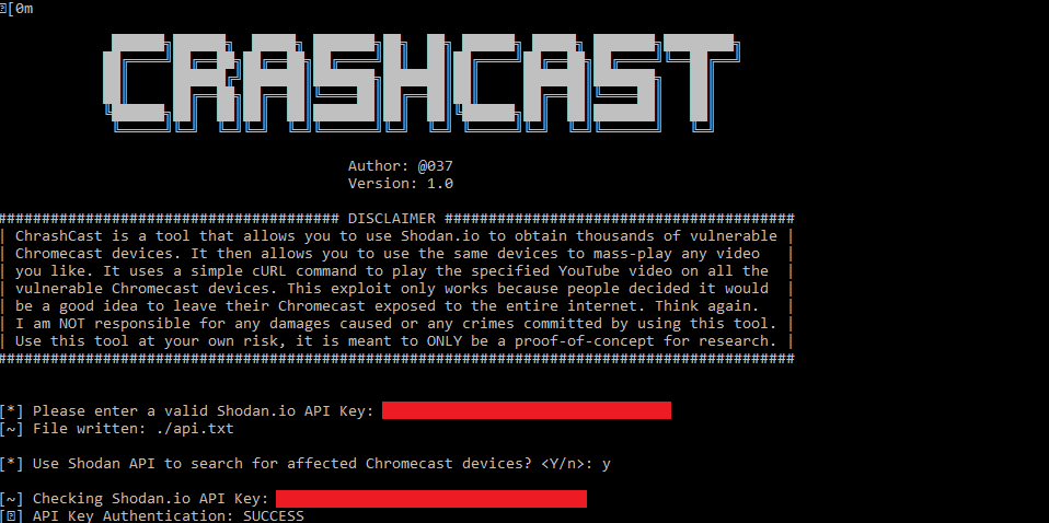 GitHub - 649/Crashcast-Exploit: This tool allows you mass