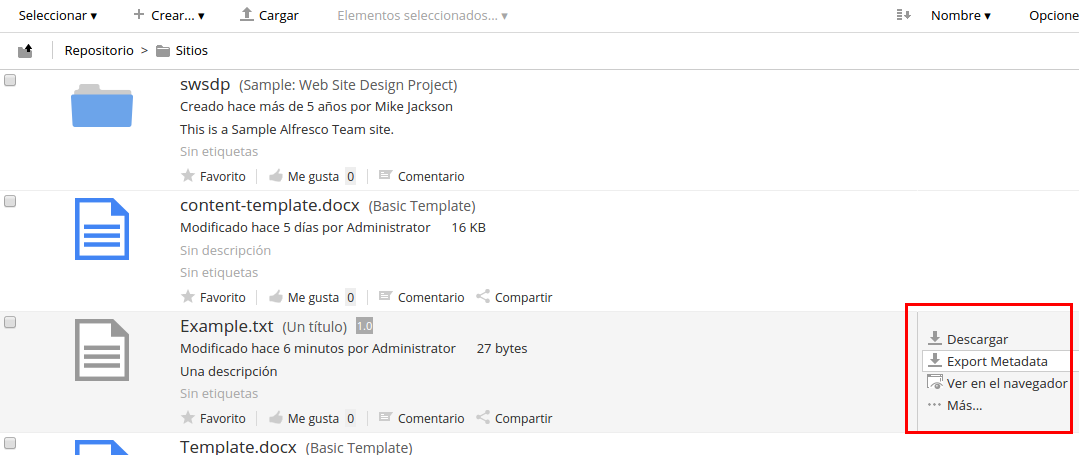 Alfresco Docx4j metadata exporter Wiki · 6phere/alf-docx4j