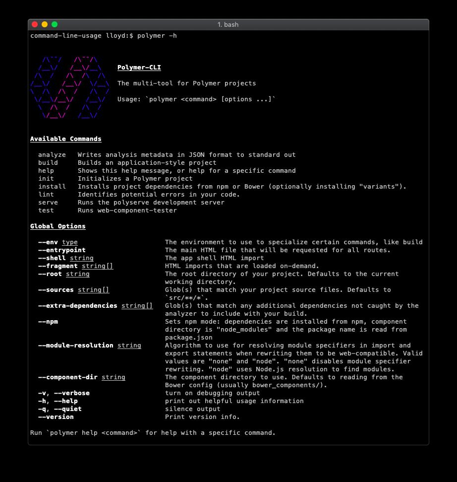 command-line-usage - npm