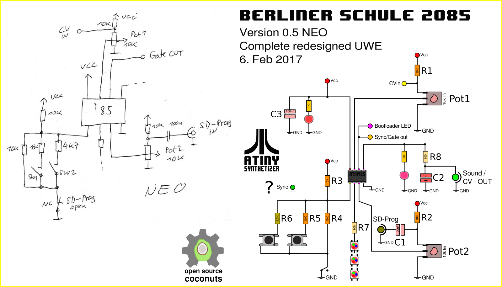 Updated Schematics v0.5, Uwe's Redesign