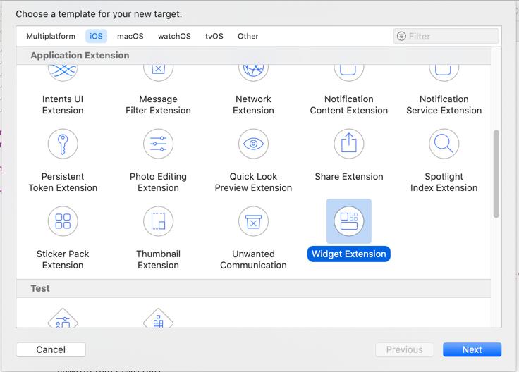 Widget Extension