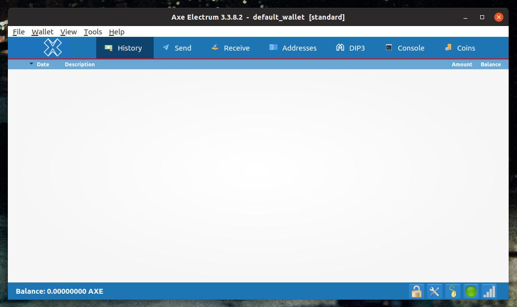 Axe Electrum on macOS