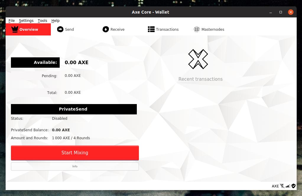 AXE-Qt on macOS