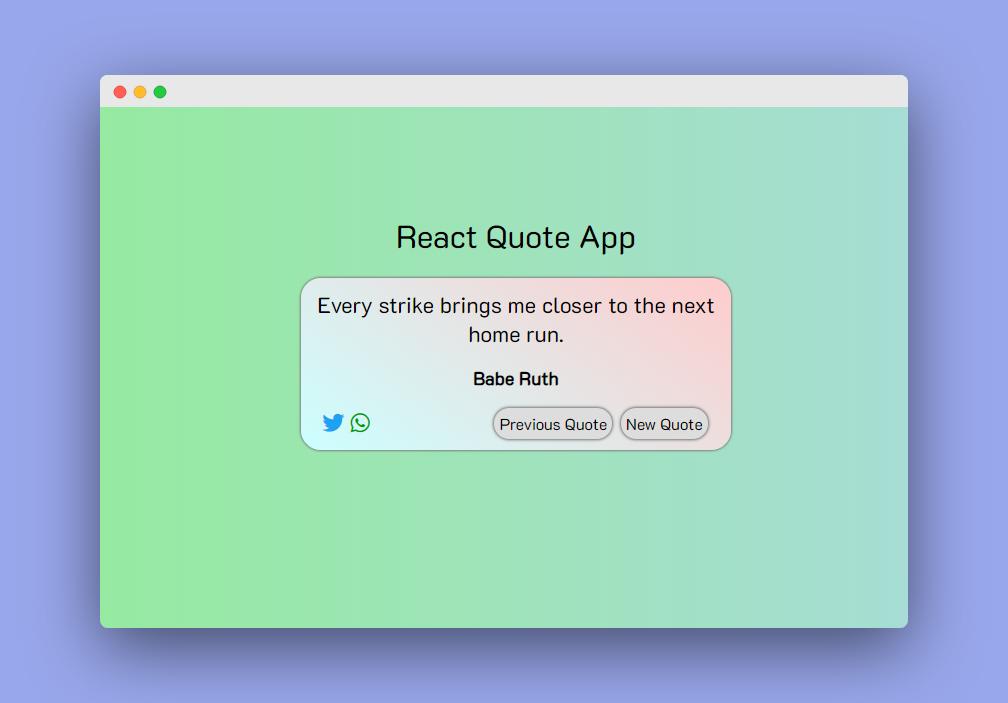 Random Quote App